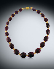 Burmese Ruby Brushed 14K Collar
