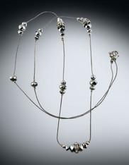 Metallic Silver Swarovski Crystal Rope