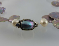 Huge Grade AAA Silver Petal Pearl and South Sea White Pearl Necklace