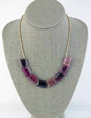 Opulent Step-cut Tourmaline Nesting 18K Necklace