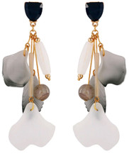 Super Long Elegant Shades of Gray Lucite Alloy Dangle Earrings