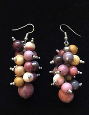 Assorted Jasper Dangle Sterling Earrings