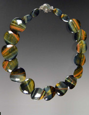 Banded Iron Tiger Eye Nesting Collar