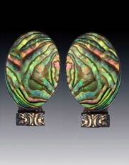 Amy Kahn Russell Abalone Sterling Clip/Post Earrings