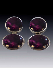 Amy Kahn Russell Double Amethyst Sterling Clip/Post Earrings
