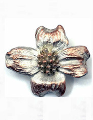 CLOSEOUT - Silver Seasons Dogwood Bronze/Sterling Pin