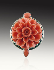 Amy Kahn Russell Coral Flower Pin/Pendant