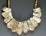 Tthis collar features Brazilian pyrite (fool's gold).