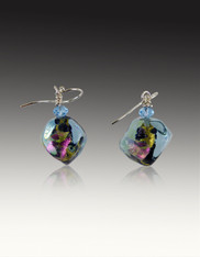 Rare Venetian Sasso Aquamarine Earrings