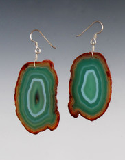 Green Agate Natural outlined Slice