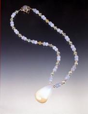 Rare Bi-Colored Opal Aquamarine Necklace