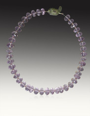 Grade AAA Faceted Lilac Amethyst Collar