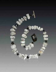 Grade AAA faceted Tourmaline Quartz Black Tourmaline Collar