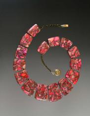 Strawberry Red Jasper Collar