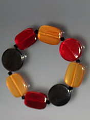 Multi Color Horn Bracelet