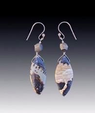 Australian Jasper and Pyrite Oval Earrings