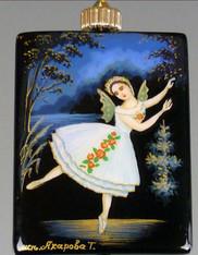 Handpainted Russian Jewelry: Ballerina
