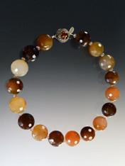 Earthtone Faceted Quartz Gumball Collar  - SOLD