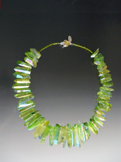 Spring Green Iridescent Quartz Collar