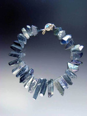 """Make a fabulous statement with these shimmering iridescent quartz collars in every color of the rainbow perfect for any occasion and surprisingly light. 18"""""""