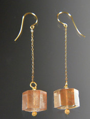 Brazilian Rose Quartz 14K Dangle Earrings SOLD