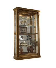 2 Way Sliding Door Curio Oak - FREE SHIPPING