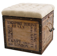 Accent Ottoman City Slicker - FREE SHIPPING