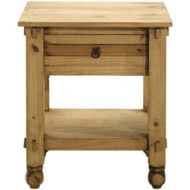 Rustic 1 Drawer Nightstand