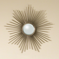 Global Views - Mini Sunburst Mirror-Nickel w/Security Hardware (9.90664)