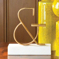 Gold Ampersand - FREE SHIPPING