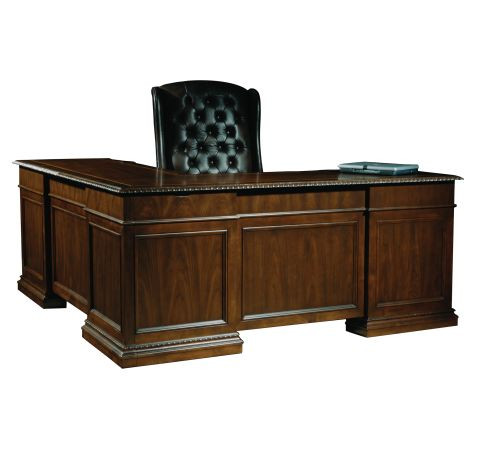 Old World Executive L-Desk by Hekman (7-9167)