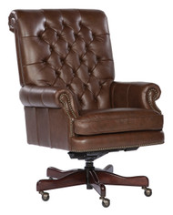 Coffee Leather Executive Chair by Hekman (79253C)
