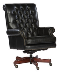Black Leather Executive Chair by Hekman FREE SHIPPING