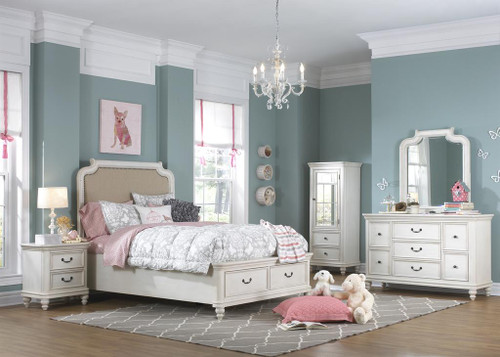 Madison Upholstered Storage Bedroom Set by Samuel Lawrence (8890)