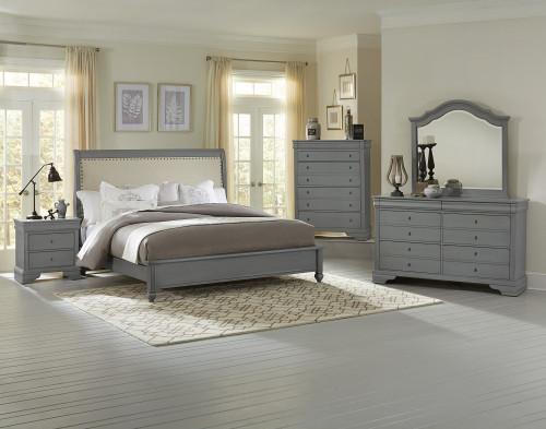 French Market Upholstered Bedroom Set by Vaughan Bassett FREE SHIPPING (380-381-382-384)