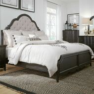 Black Traditional Upholstered Bedroom Set - FREE SHIPPING