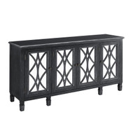 Black Four Door Mirrored Console/Sideboard FREE SHIPPING