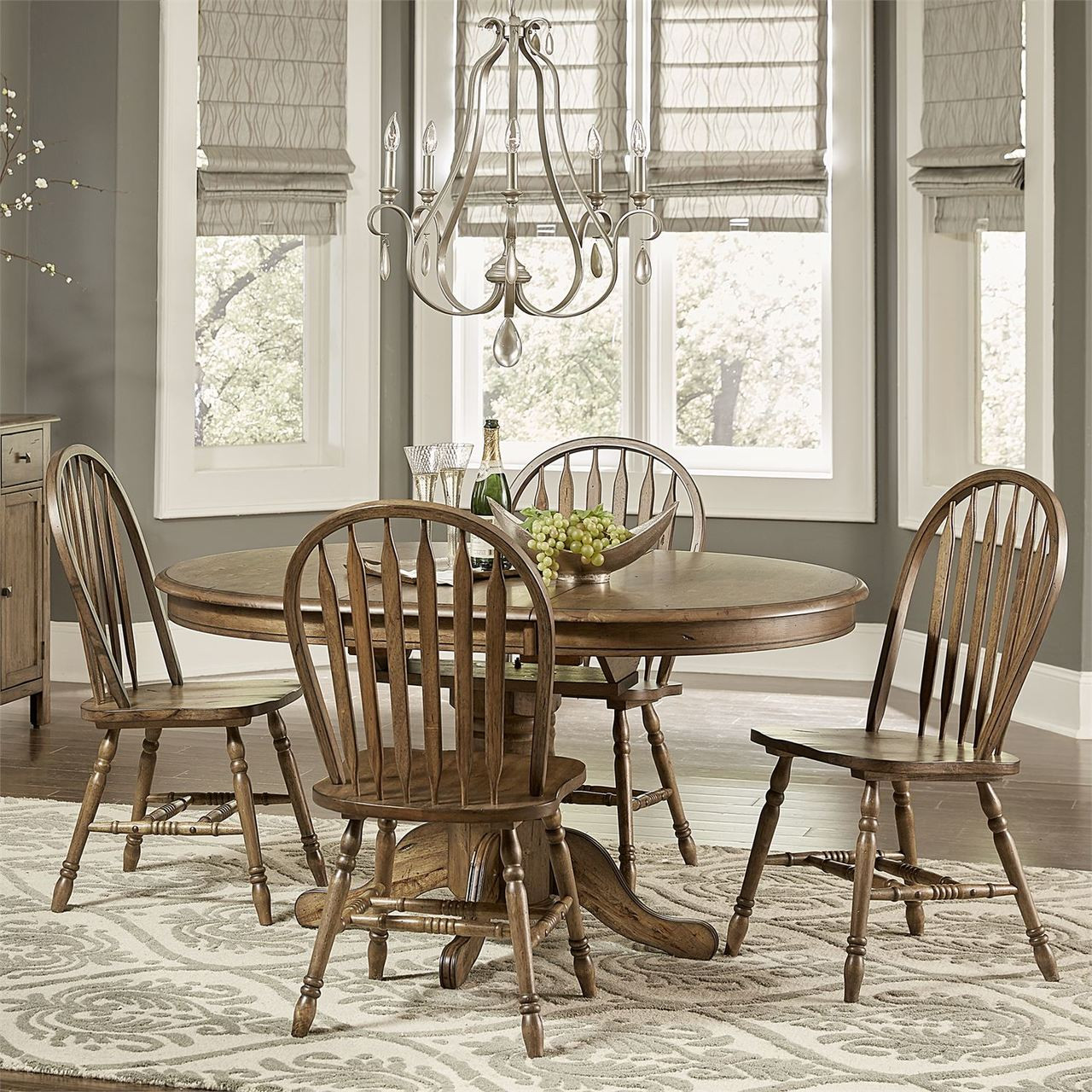 Cheap Furniture Free Shipping: Pedestal Table Dining Set W/ Server By FREE SHIPPING