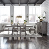 Distressed Farmhouse Dining Set - FREE SHIPPING