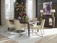 Wood and Gold Dining Set - FREE SHIPPING