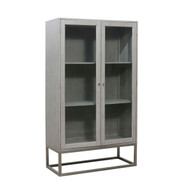 Grey Oak Display Cabinet - FREE SHIPPING