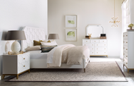 White Bureau Bedroom Set - FREE SHIPPING