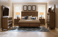 Classic Mission Brown Bedroom Set - FREE SHIPPING