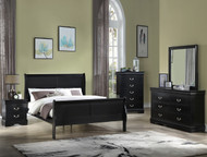Black Sleigh Bedroom Set - FREE SHIPPING