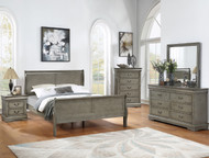 Grey Sleigh Bedroom Set - FREE SHIPPING
