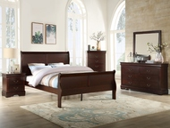 Cherry Sleigh Bedroom Set - FREE SHIPPING
