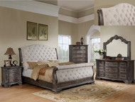 Upholstered Sleigh Bedroom Set - FREE SHIPPING
