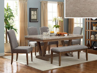 6 pc. Marble Top Rectangular Table Set - FREE SHIPPING - Weekly Special