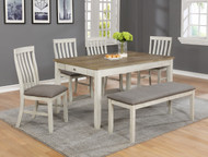 6 pc. Leg Dining Table w/ Drawers - FREE SHIPPING