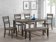6 pc. Grey Leg Dining Set Table - FREE SHIPPING - Weekly Special